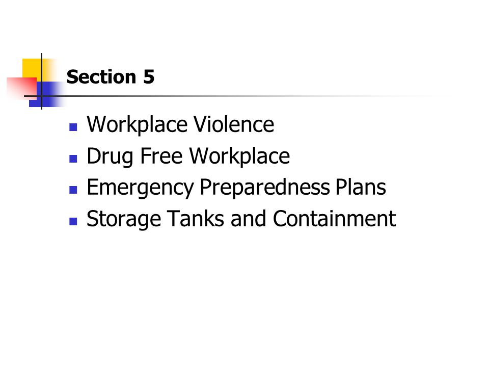 Emergency Preparedness Plans Storage Tanks and Containment