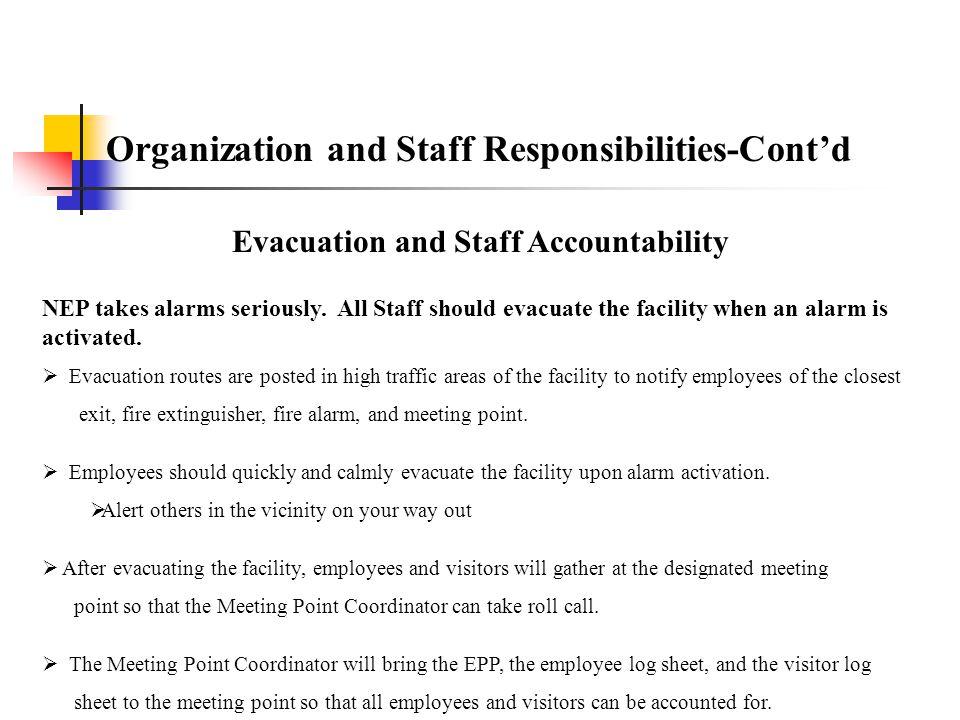 Evacuation and Staff Accountability