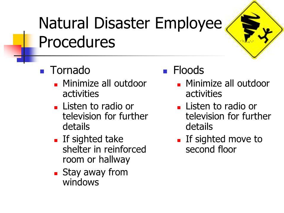 Natural Disaster Employee Procedures