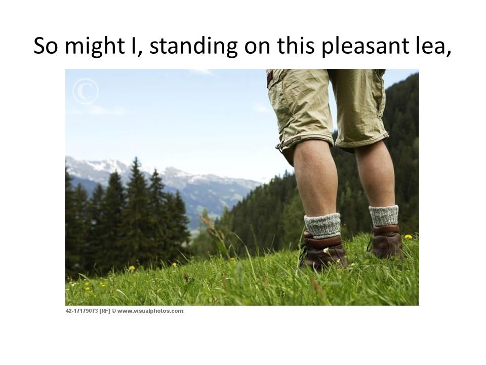 So might I, standing on this pleasant lea,