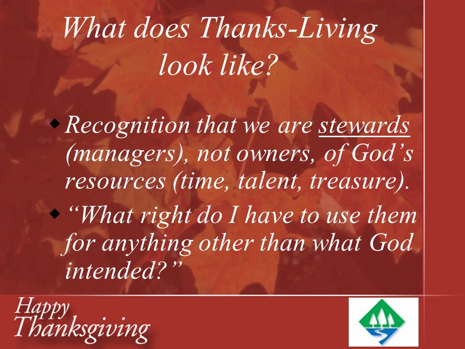 What does Thanks-Living look like
