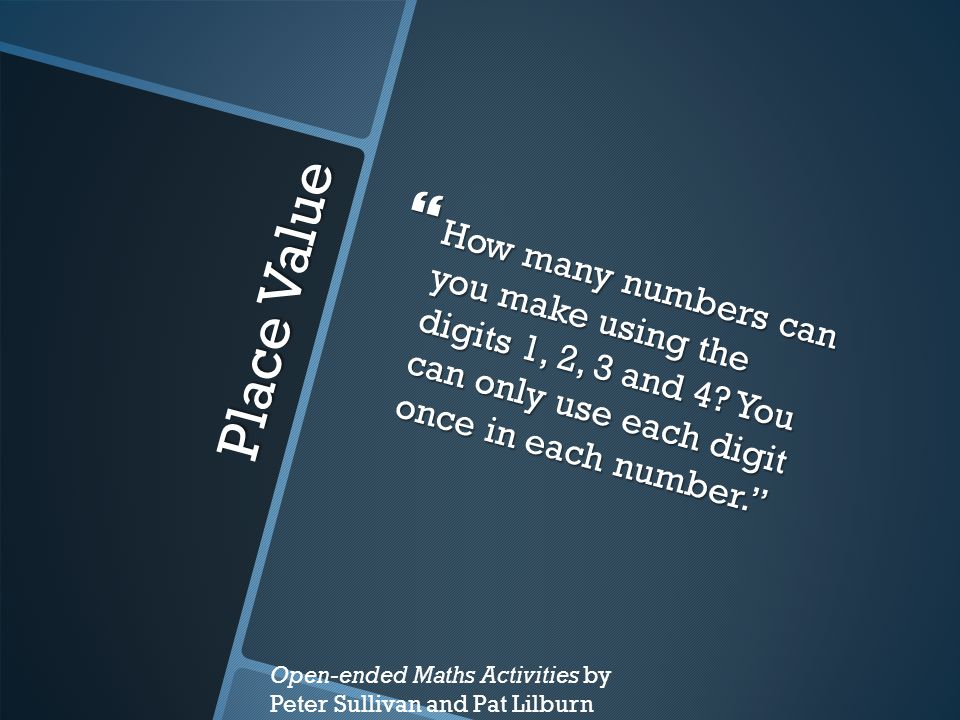 How many numbers can you make using the digits 1, 2, 3 and 4