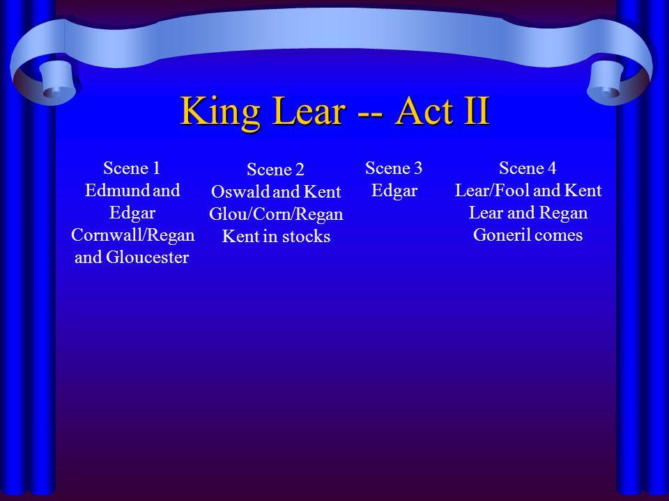 King Lear -- Act II Scene 1 Edmund and Edgar Cornwall/Regan