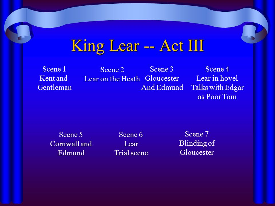 king lear kent essay Tolstoy then makes a sort of exposition of the plot of king lear, finding it at  every step to  act iii, scene 2 (in which lear, kent and the fool are together in  the.