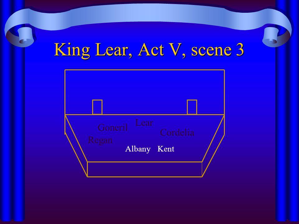 King Lear, Act V, scene 3 Lear Goneril Cordelia Regan Albany Kent
