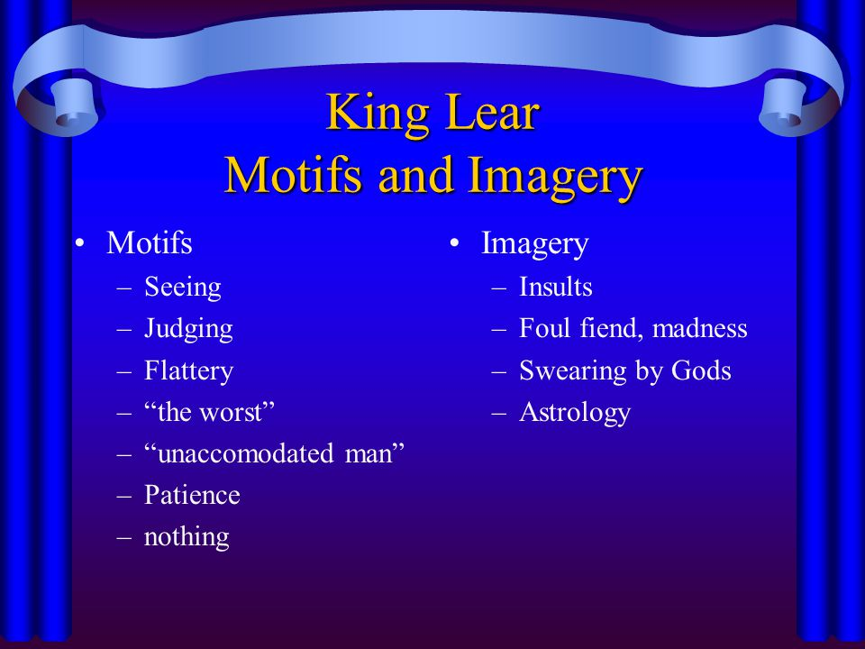 King Lear Motifs and Imagery