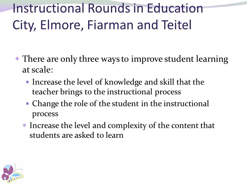 Instructional Rounds in Education City, Elmore, Fiarman and Teitel