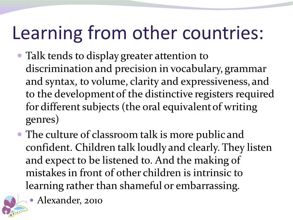 Learning from other countries: