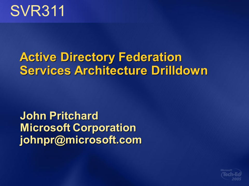 Active Directory Federation Services Architecture Drilldown