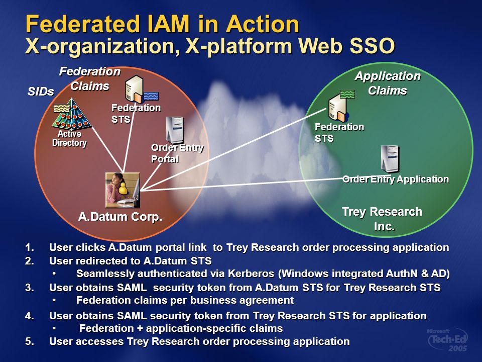 Federated IAM in Action X-organization, X-platform Web SSO