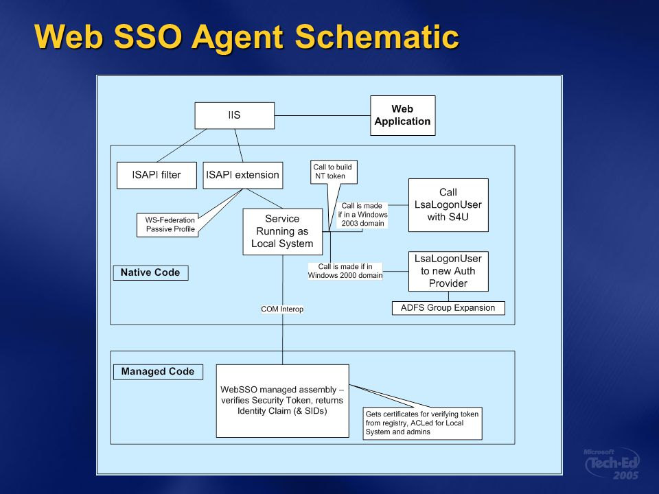 Web SSO Agent Schematic