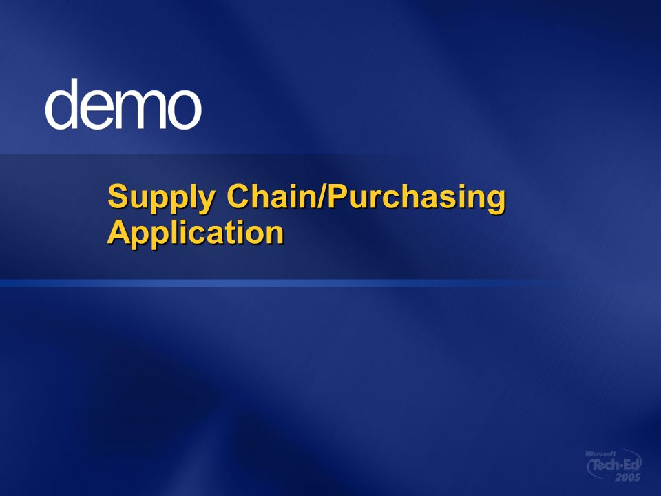 Supply Chain/Purchasing Application