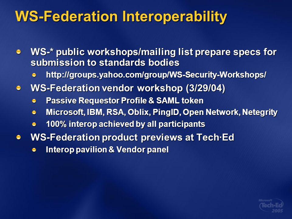 WS-Federation Interoperability