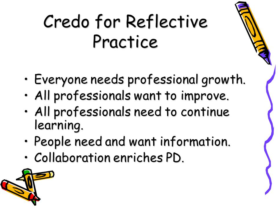 Credo for Reflective Practice