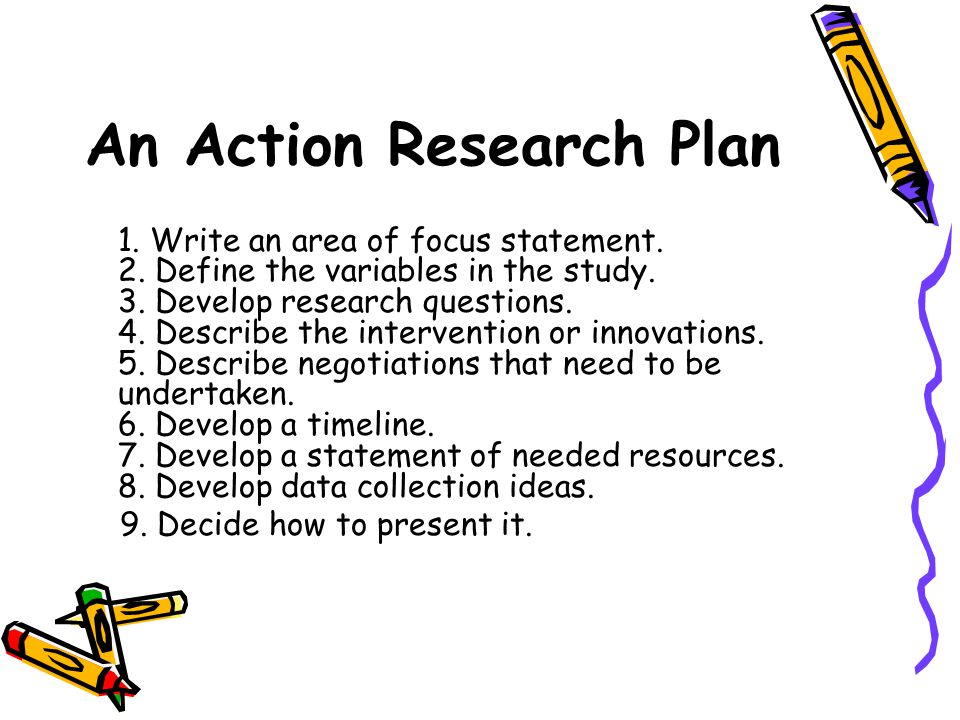 An Action Research Plan