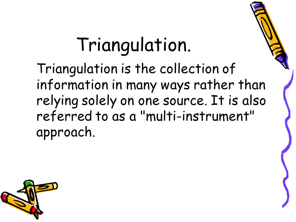 Triangulation.