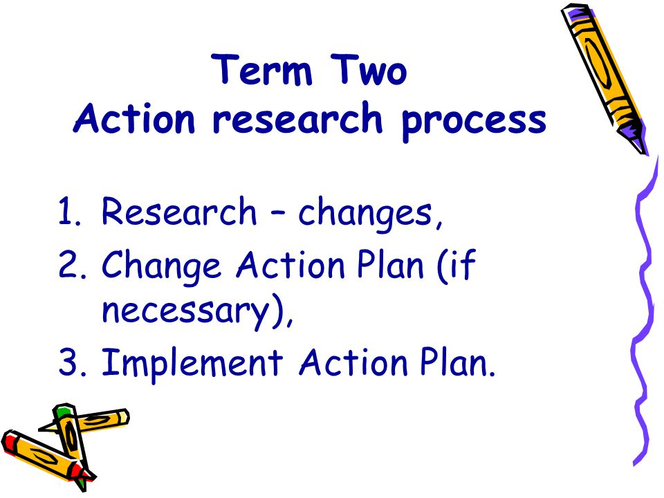 Term Two Action research process