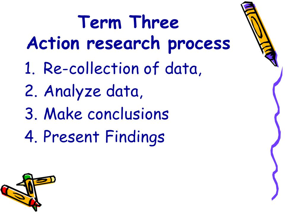Term Three Action research process