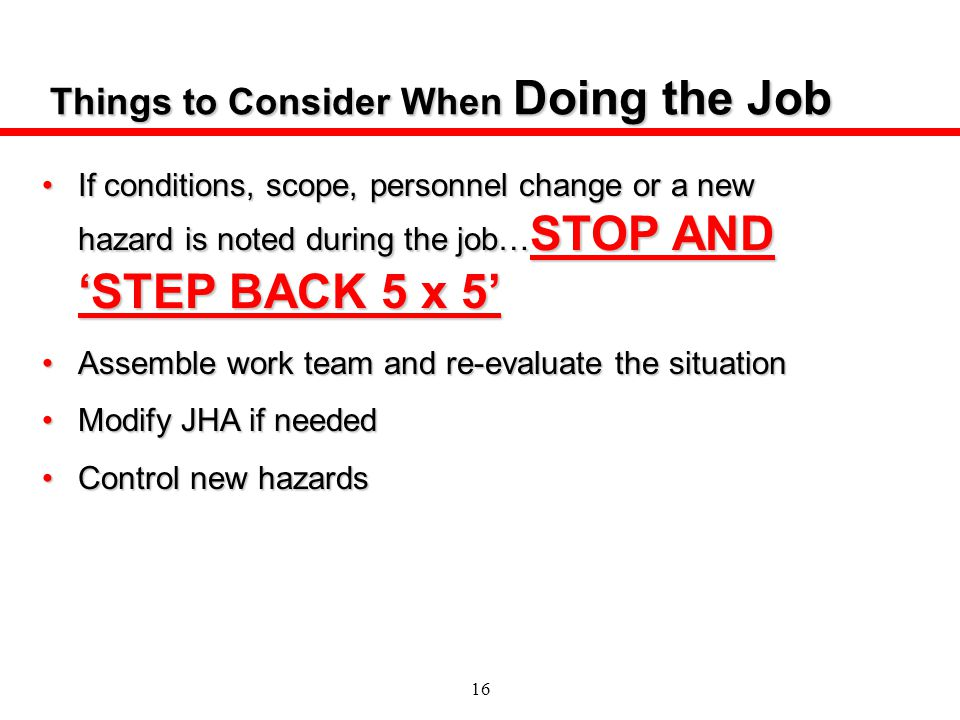 Things to Consider When Doing the Job