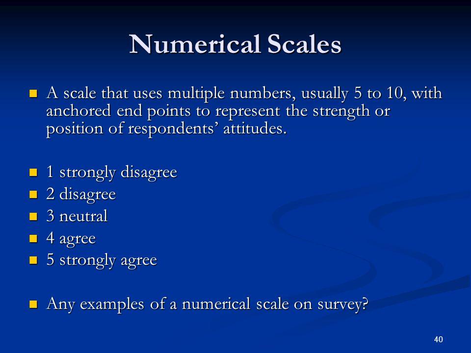 Numerical Scales