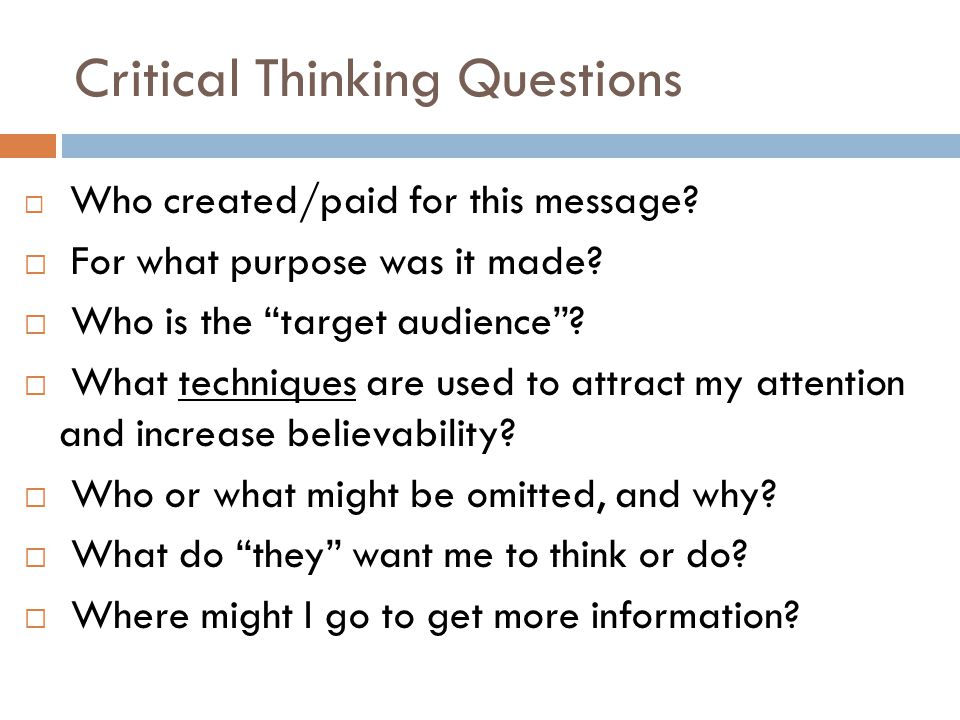 Critical Thinking Questions