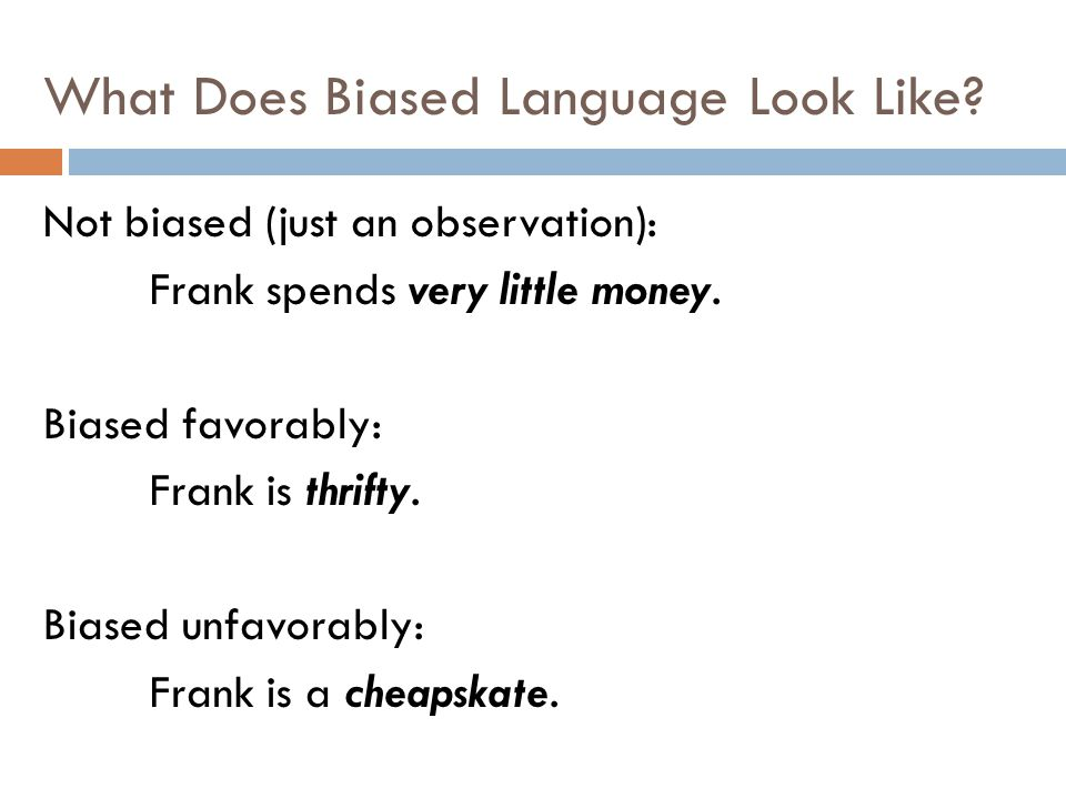 What Does Biased Language Look Like