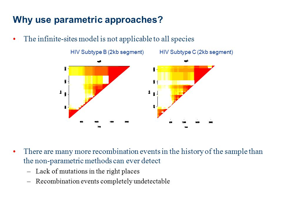 Why use parametric approaches