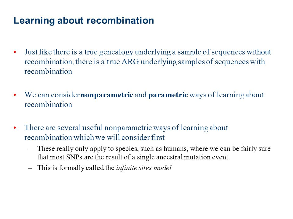 Learning about recombination