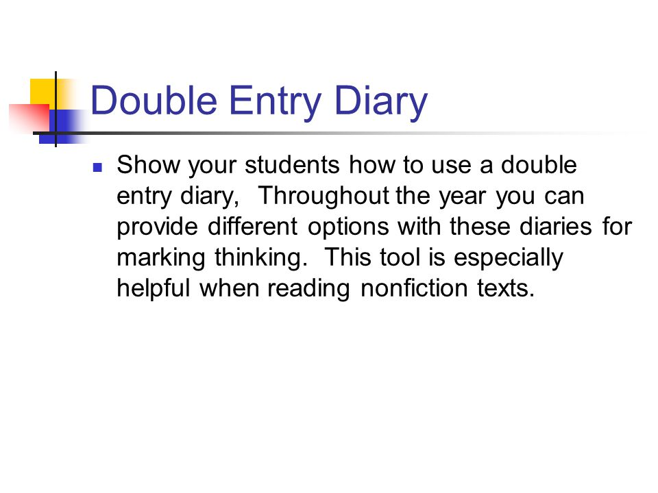 Double Entry Diary