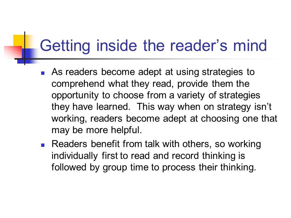 Getting inside the reader's mind