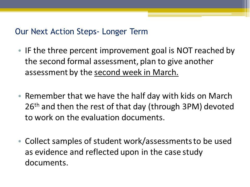 Our Next Action Steps- Longer Term