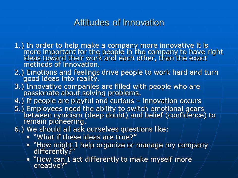 Attitudes of Innovation