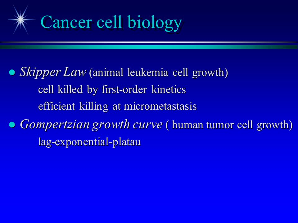 Cancer cell biology Skipper Law (animal leukemia cell growth)