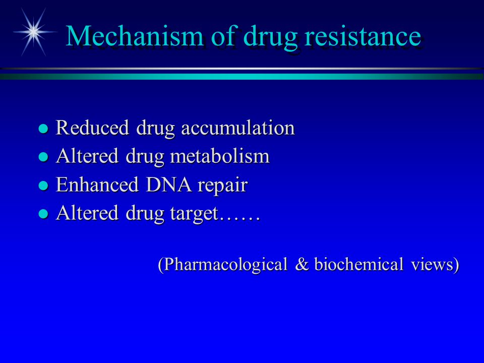 Mechanism of drug resistance