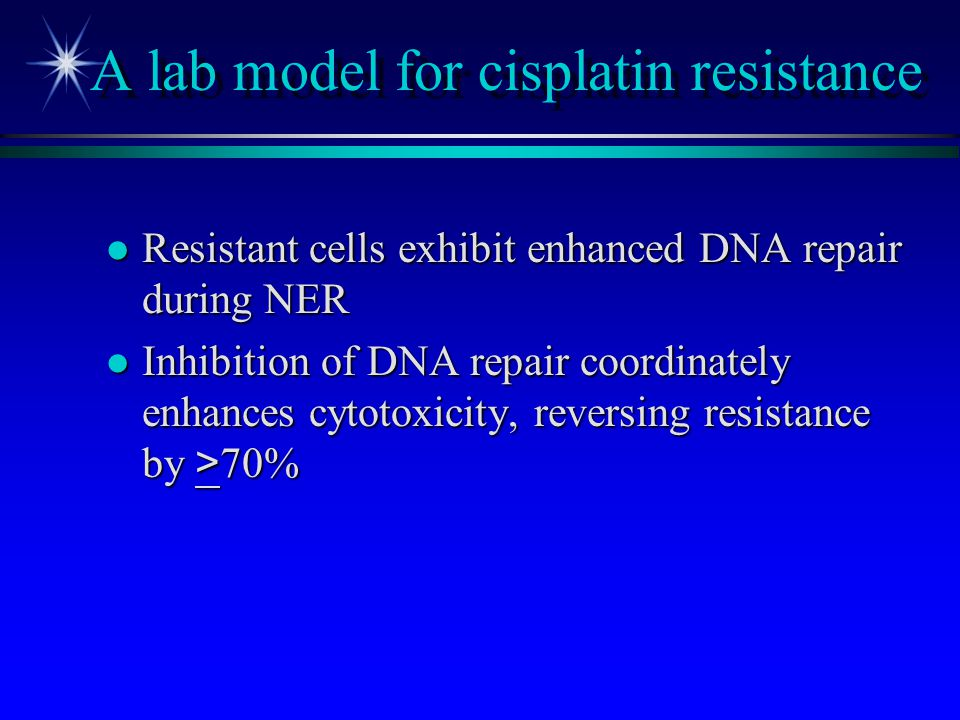 A lab model for cisplatin resistance