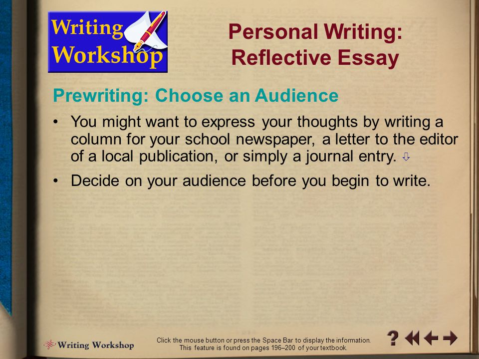 personal reflective essay on life An essay on life - our metaphor for life (personal reflective essay) essay by lostgirl , high school, 11th grade , a- , march 2006 download word file , 3 pages download word file , 3 pages 46 5 votes.