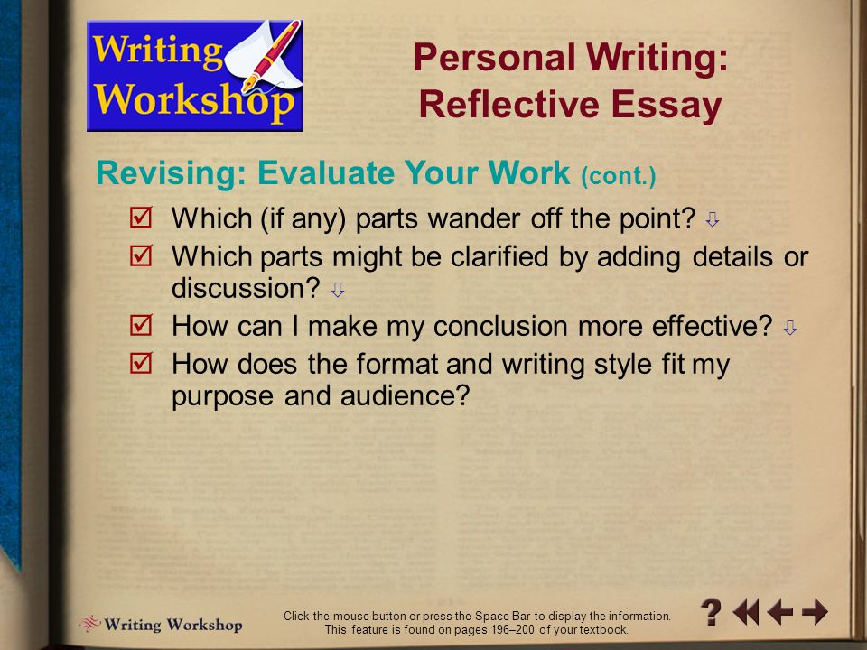 steps to write a reflective essay Reflective writing step 6: write introduction and conclusion sentence 4 asserts essay writing is demanding.