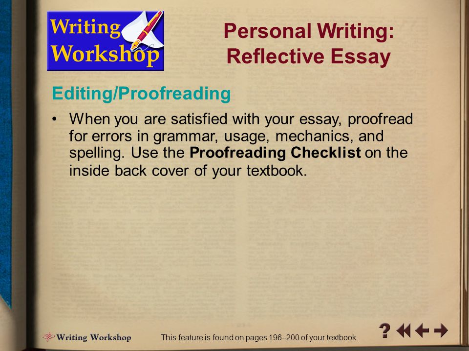 Personal Writing: Reflective Essay