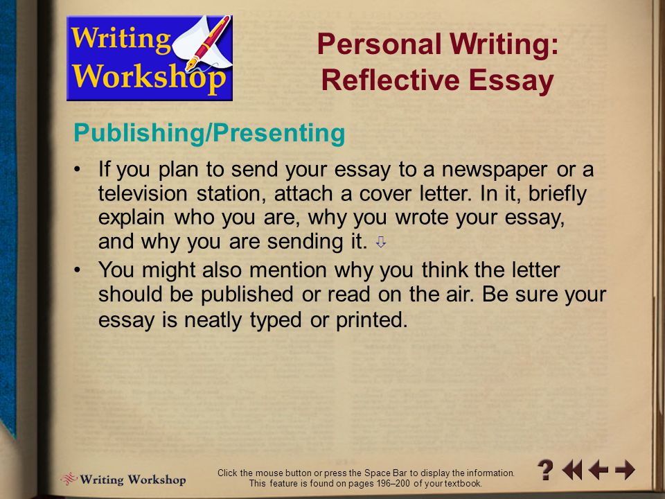 writing reflective essay you should Here is a great guideline to write your reflective essay the list of reflective essay topics will help you focus on your own ideas for writing a.