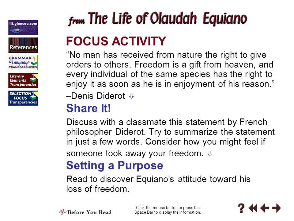 FOCUS ACTIVITY Share It! Setting a Purpose