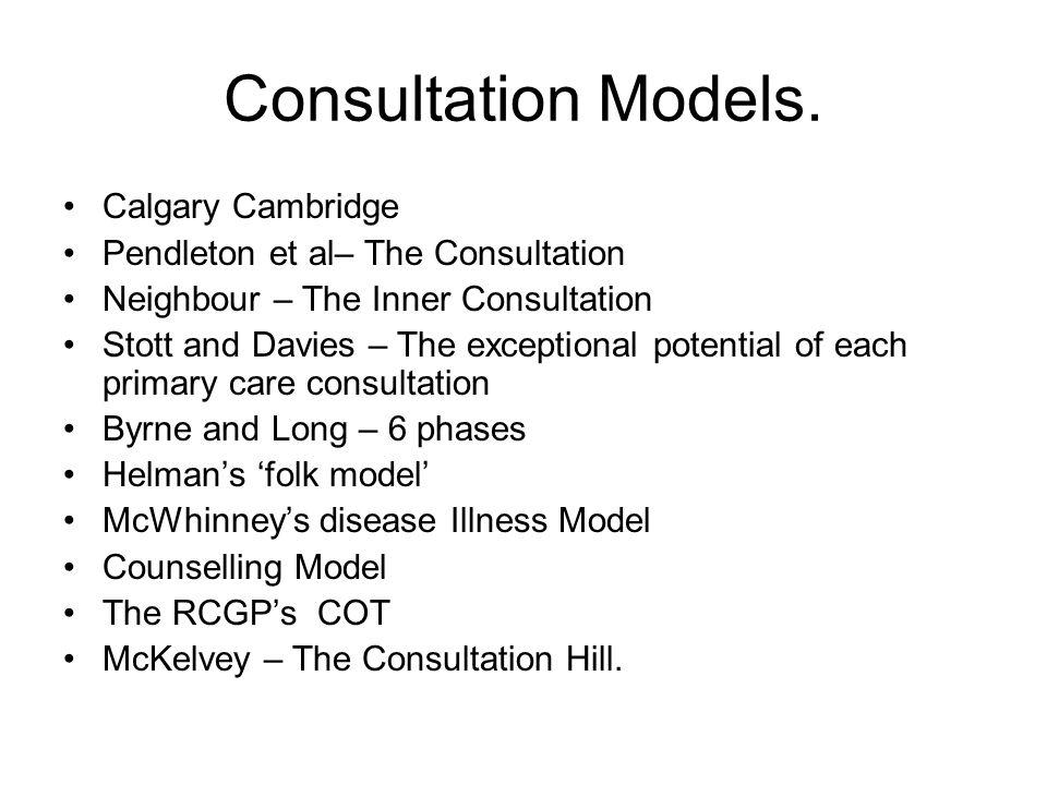 Consultation Models. Calgary Cambridge