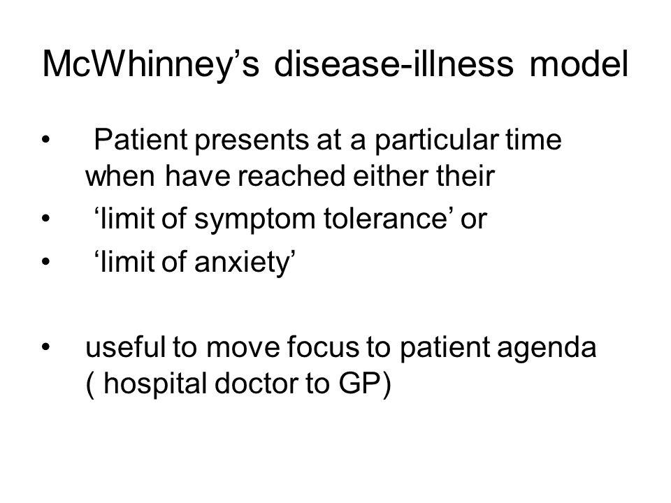 McWhinney's disease-illness model