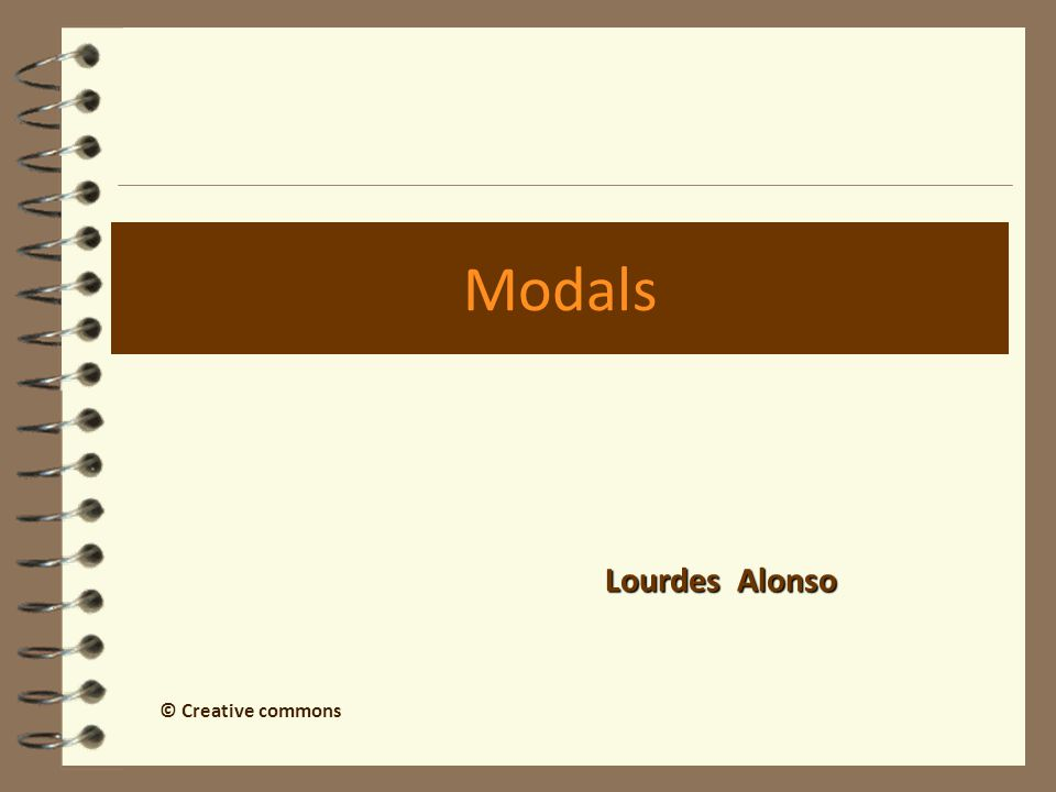 Modals Lourdes Alonso © Creative commons