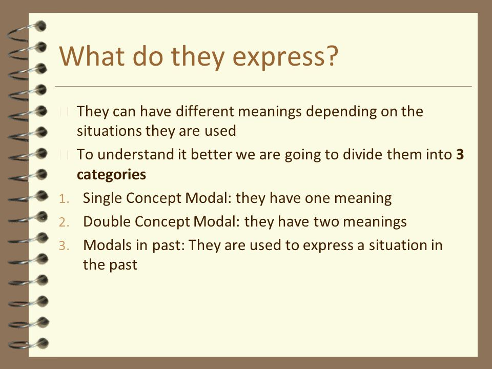 What do they express They can have different meanings depending on the situations they are used.