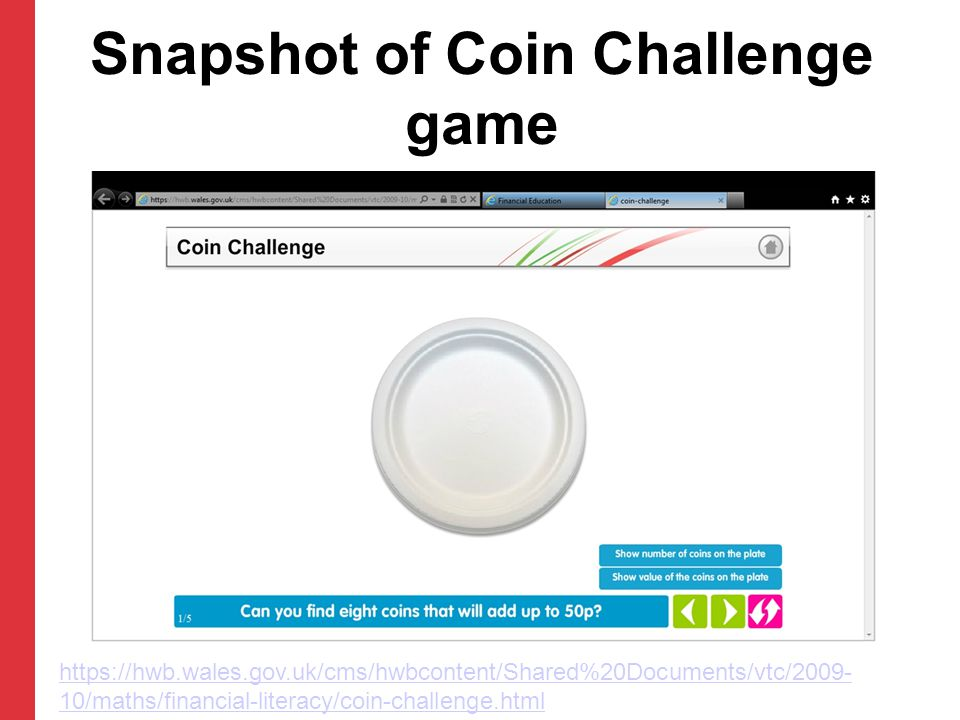 Snapshot of Coin Challenge game