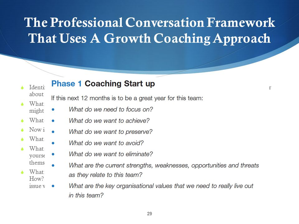 The Professional Conversation Framework That Uses A Growth Coaching Approach