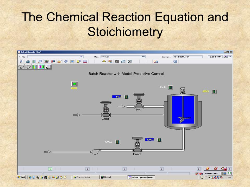 The Chemical Reaction Equation and Stoichiometry