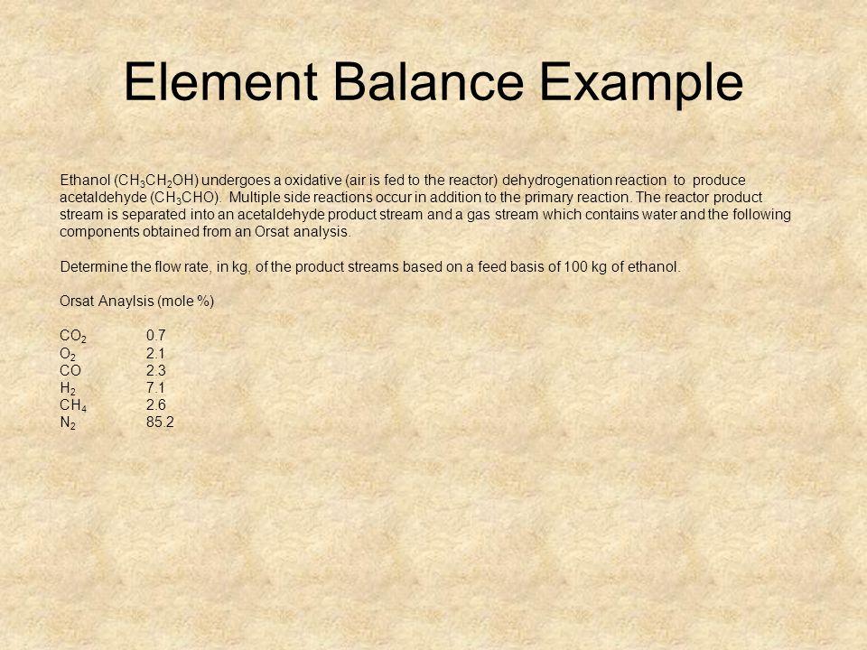 Element Balance Example