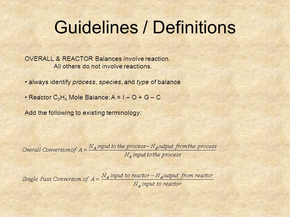 Guidelines / Definitions