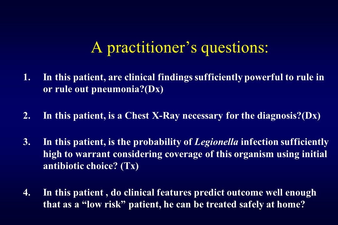 A practitioner's questions: